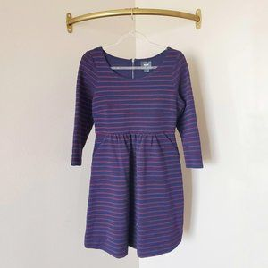 Anthropologie Maeve Striped Fit & Flare Dress 8